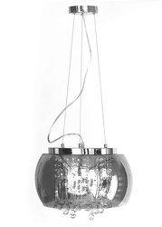 Lampa Szklana Przydymione lustro krople wody 50cm